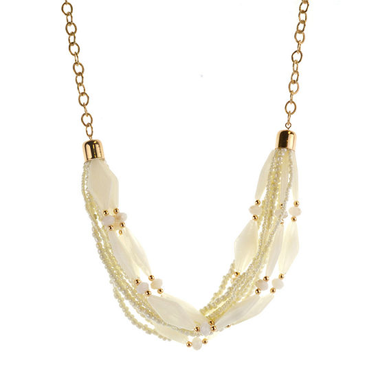 Mixit White 18 Inch Cable Statement Necklace