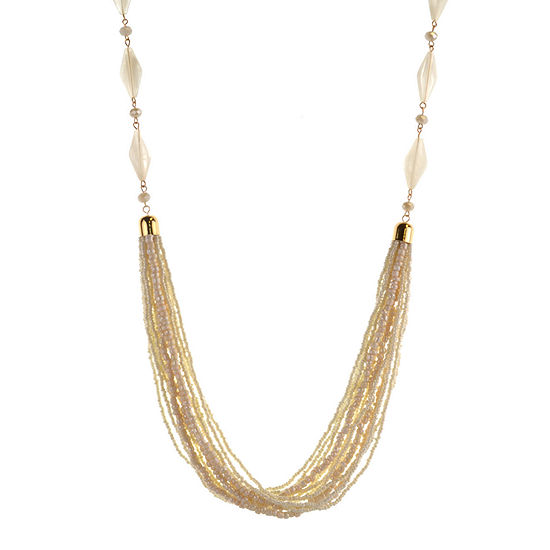 Mixit White 32 Inch Statement Necklace