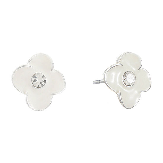 Liz Claiborne 16mm Flower Stud Earrings