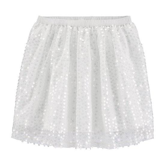 Oshkosh Little Girls Mid Rise Midi A-Line Skirt