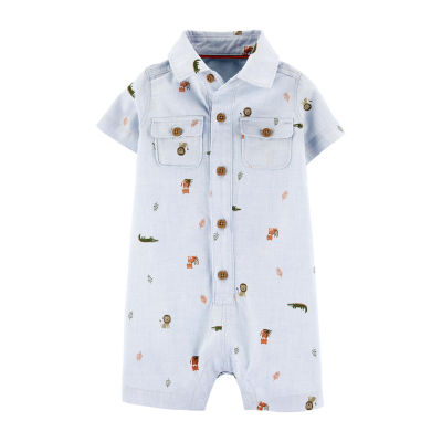Carter's Boys Short Sleeve Romper - Baby