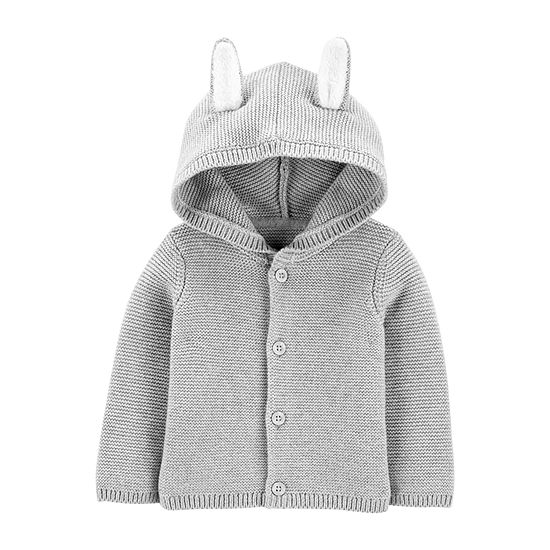 Carter's Easter - Baby Unisex Applique Hooded Neck Long Sleeve Cardigan