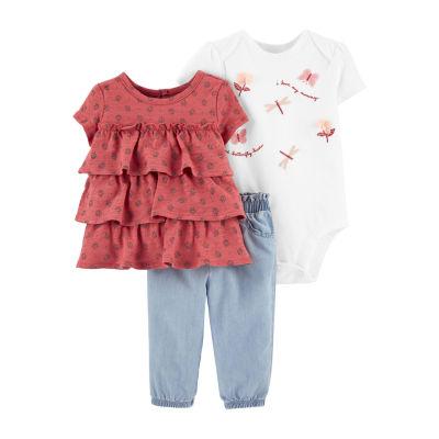 Carter's Baby Girls 3-pc. Pant Set