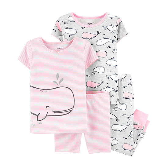 Carter's Girls 4-pc. Pajama Set Toddler