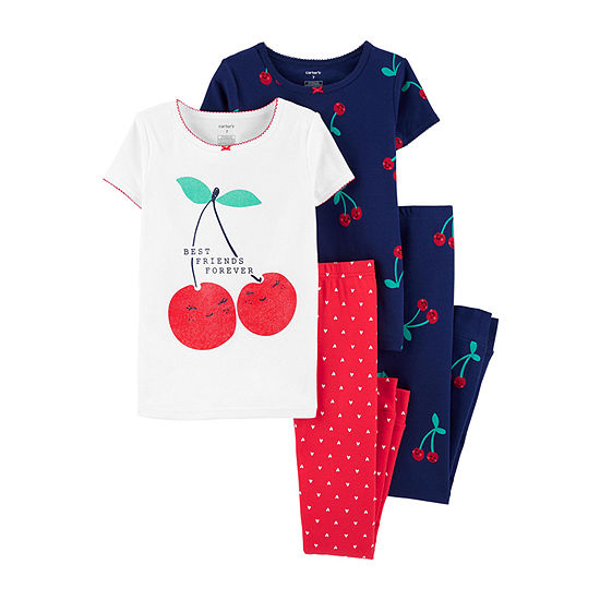 Carter's Girls 4-pc. Pajama Set Big Kid
