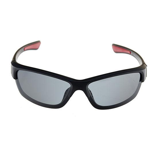 Dockers Mens Polarized Half Frame Wrap Around Sunglasses
