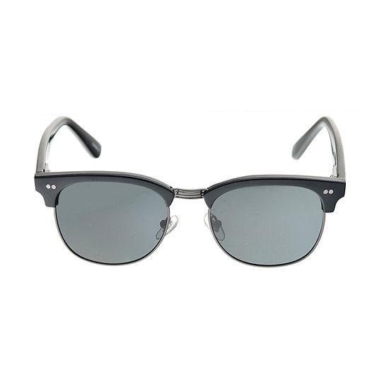 Dockers Mens Polarized Rimless Rectangular Sunglasses