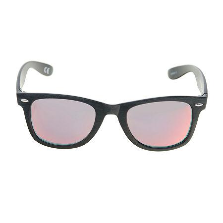 Arizona Mens Full Frame Square Sunglasses, One Size , Red