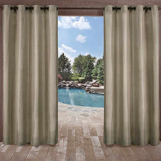 Exclusive Home Curtains Biscayne Room Darkening Grommet-Top Set of 2 Curtain Panel