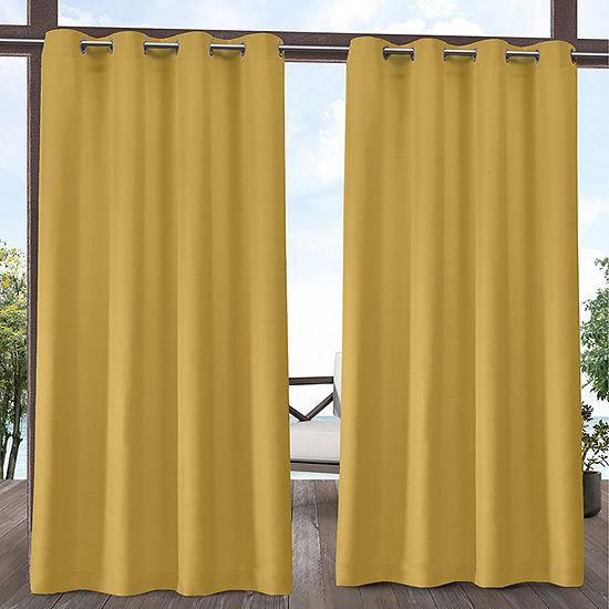 Exclusive Home Curtains Indoor/Outdoor Delano Light-Filtering Grommet-Top Set of 2 Curtain Panel