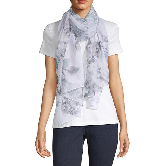 Mixit Chiffon Floral Oblong Scarf