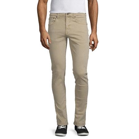 Arizona 360 Advance Flex Denim Mens Skinny Fit Jean, 38 30, Brown