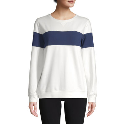 St. John's Bay Womens Crew Neck Long Sleeve Sweatshirt