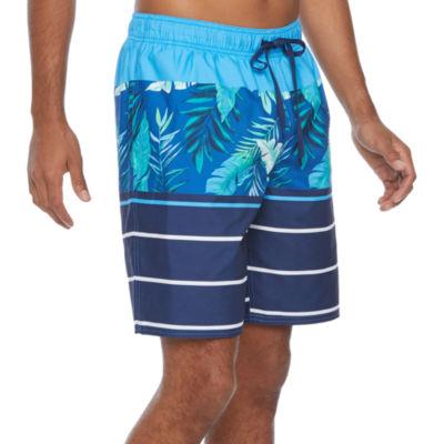 Peyton & Parker Mens Striped Swim Trunks