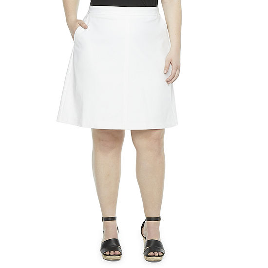 Liz Claiborne Womens A-Line Skirt-Plus