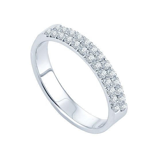 1/2 CT. T.W. Diamond Band 14K White Gold