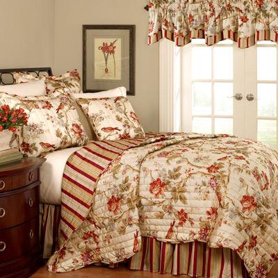 Waverly® Charleston Chirp Papaya Quilt Set