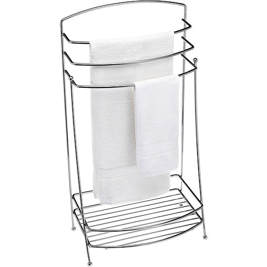 Creative Bath™ Chrome Standing Towel Butler