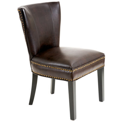 Brodie Bonded Leather Dining Chair with Nailhead Trim