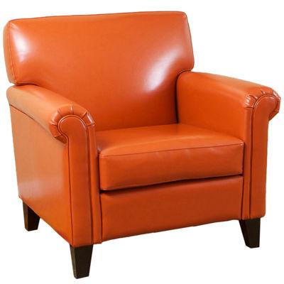 Bryan Bonded Leather Club Chair