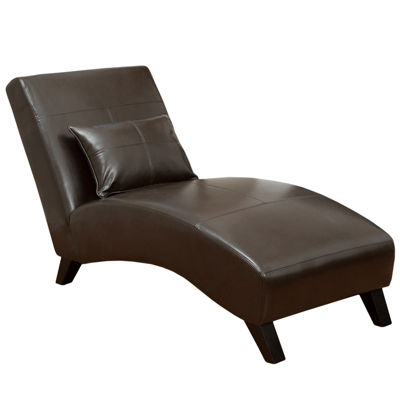 Wynn chaise lounge for Bonded leather chaise