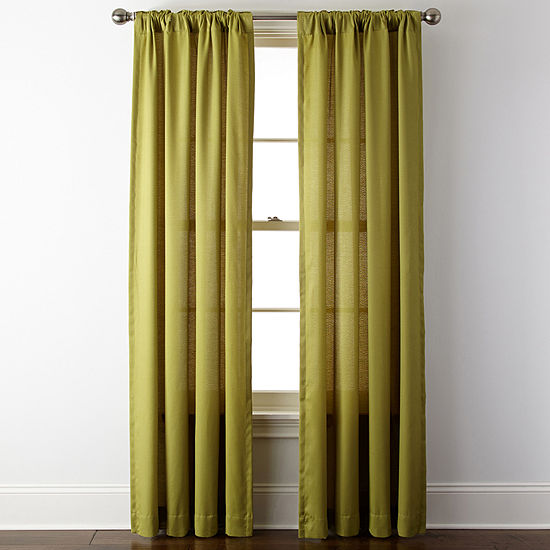JCPenney Home Light-Filtering Rod-Pocket Single Curtain Panel