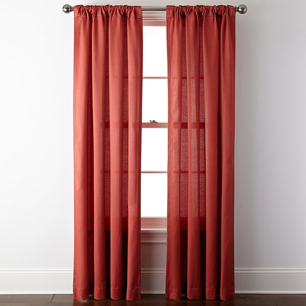 JCPenney Home Rialto Rod Pocket/Back Tab Curtain Panel