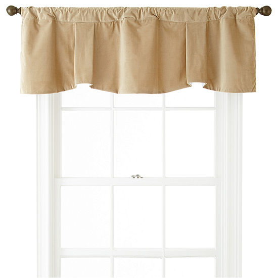 Bliss Velvet Claremont Rod-Pocket Valance