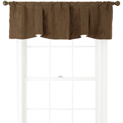 Bliss Velvet Claremont Embroidered Rod-Pocket Valance