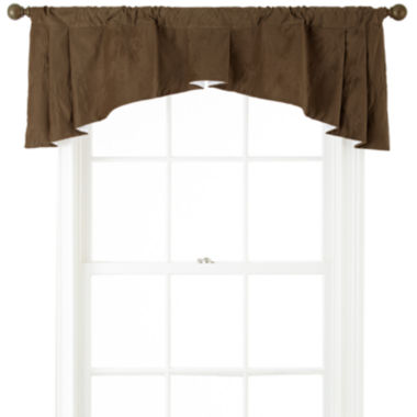 Bliss Velvet Jefferson Embroidered Rod-Pocket Valance