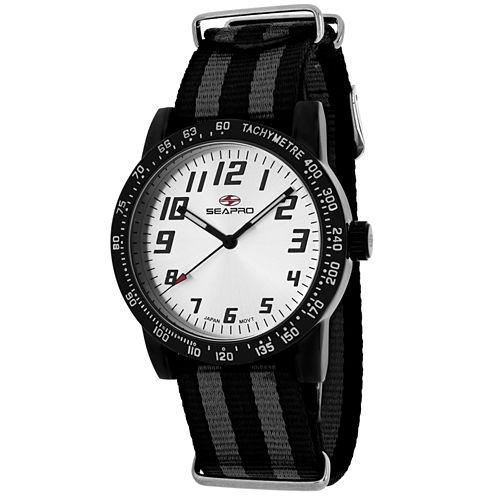 Sea-Pro Bold Womens Two Tone Strap Watch-Sp5212nbk