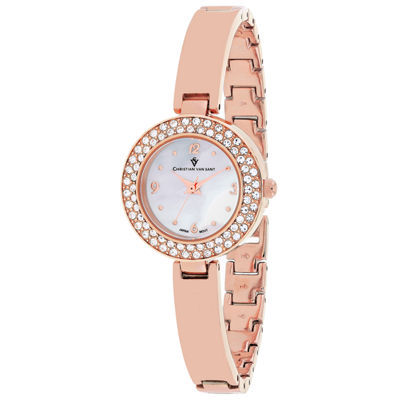 Christian Van Sant Womens Rose Goldtone Bracelet Watch-Cv8613