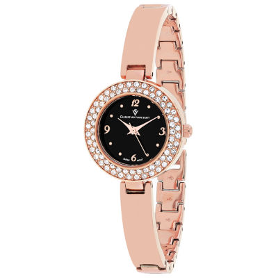 Christian Van Sant Womens Rose Goldtone Bracelet Watch-Cv8615