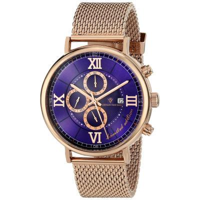 Christian Van Sant Mens Rose Goldtone Bracelet Watch-Cv1128