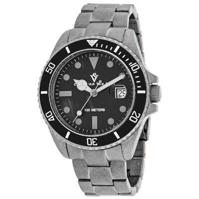 Christian Van Sant Mens Silver Tone Bracelet Watch-Cv5100b