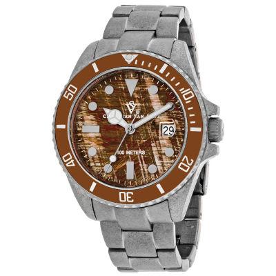 Christian Van Sant Mens Silver Tone Bracelet Watch-Cv5101b