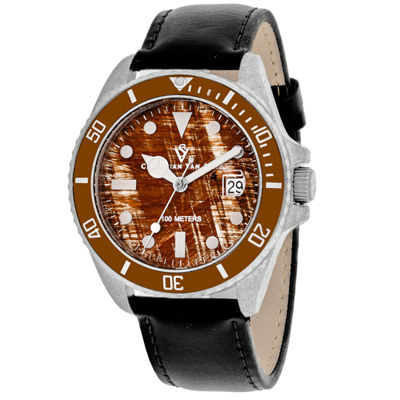 Christian Van Sant Mens Black Strap Watch-Cv5101lb