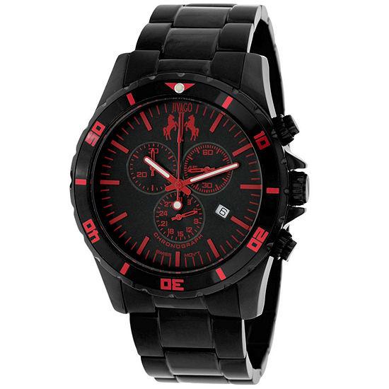 Jivago Mens Black Stainless Steel Bracelet Watch-Jv6126