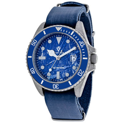 Christian Van Sant Mens Blue Strap Watch-Cv5203b
