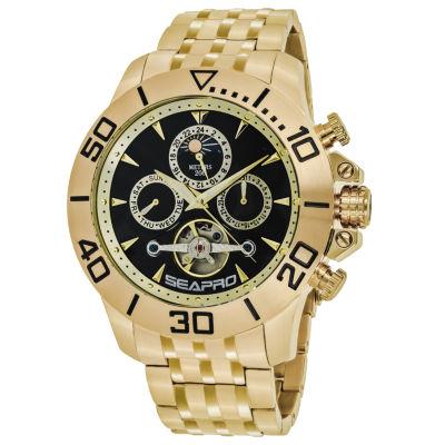 Sea-Pro Montecillo Mens Gold Tone Bracelet Watch-Sp5131
