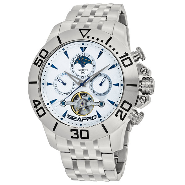 Sea-Pro Montecillo Mens Silver Tone Bracelet Watch-Sp5133