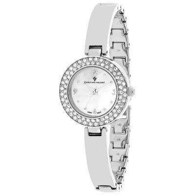 Christian Van Sant Womens Silver Tone Bracelet Watch-Cv8610