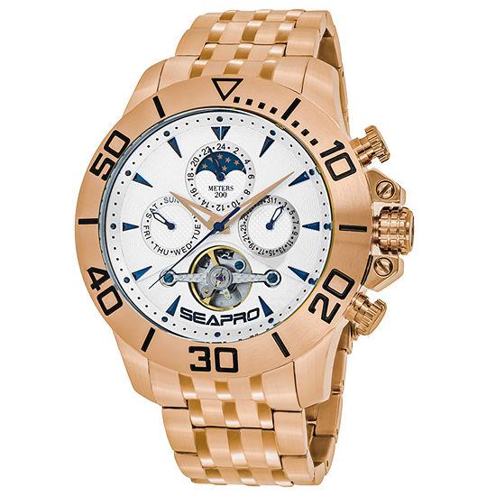 Sea-Pro Montecillo Mens Rose Goldtone Stainless Steel Bracelet Watch-Sp5135