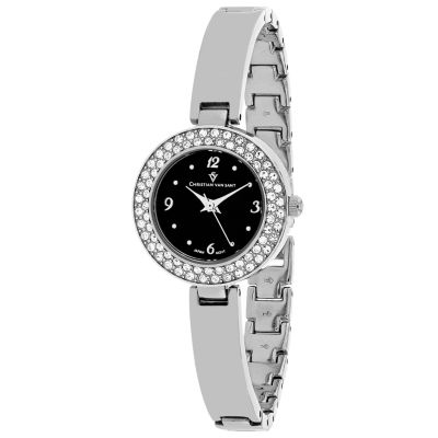 Christian Van Sant Womens Silver Tone Bracelet Watch-Cv8612