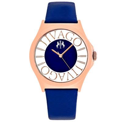 Jivago Womens Blue Strap Watch-Jv8435