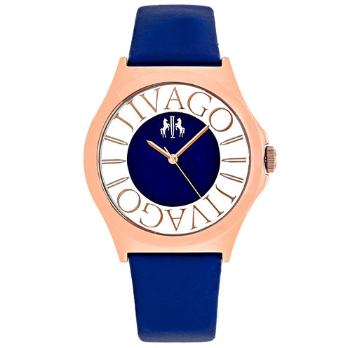 Jivago Womens Blue Strap Watch-Jv8435
