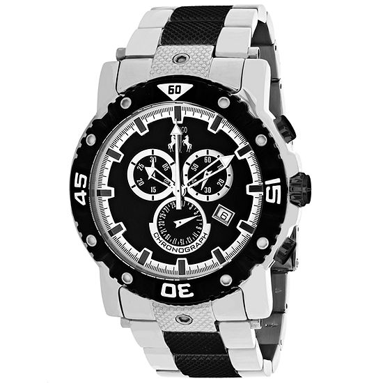 Jivago Mens Two Tone Stainless Steel Bracelet Watch-Jv9122xl
