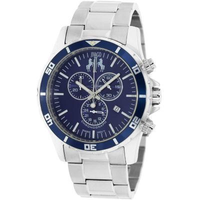 Jivago Mens Silver Tone Bracelet Watch-Jv6127