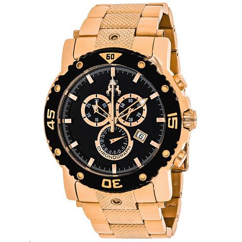Jivago Mens Rose Goldtone Bracelet Watch-Jv9123xl
