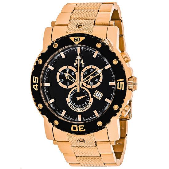 Jivago Mens Rose Goldtone Stainless Steel Bracelet Watch-Jv9123xl